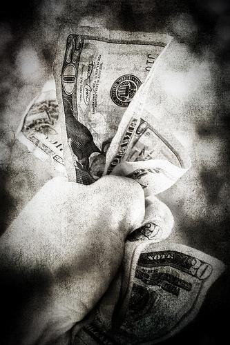 money giving photo