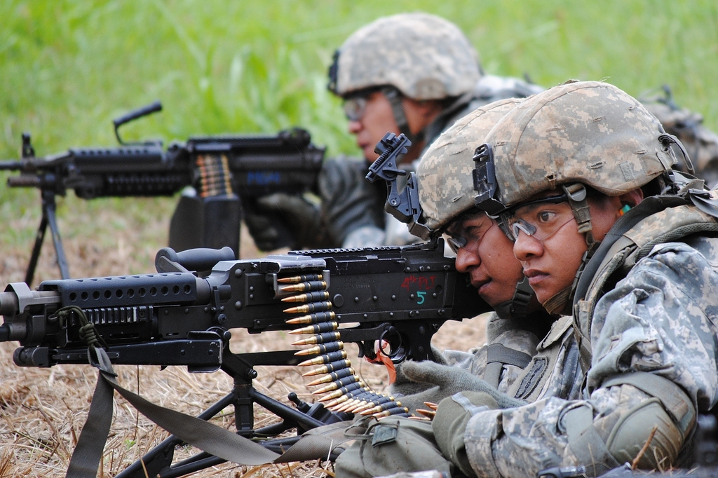 soldiers in combat photo