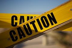 caution sign photo