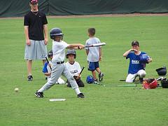 kids playing baseball photo