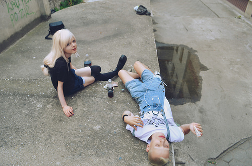 teenagers taking drugs photo