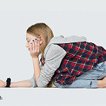 teens with cell phones photo
