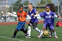 kids playing sports photo