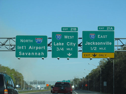 jacksonville road sign photo