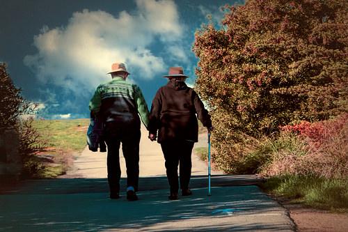 couple walking photo
